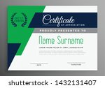 certificate template with... | Shutterstock .eps vector #1432131407