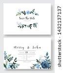 set of wedding invitation card...   Shutterstock .eps vector #1432137137