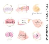 logo watercolor background... | Shutterstock .eps vector #1432137161