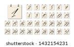 black hand written calligraphy... | Shutterstock .eps vector #1432154231