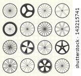 vector set  bike wheels...   Shutterstock .eps vector #143215741