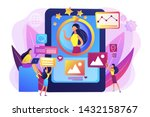 pr managers team working ... | Shutterstock .eps vector #1432158767