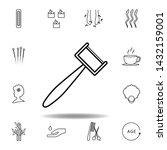 massage tool outline icon....