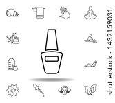 nail polish bottle outline icon....
