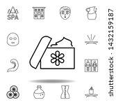 spa ointment  medicine outline...