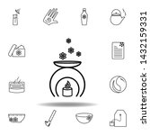 scented candle symbol outline...