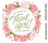 thank you so much. custom hand... | Shutterstock .eps vector #1432165181