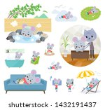 a set of mouse boy about... | Shutterstock .eps vector #1432191437