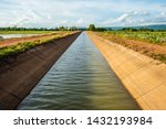 Irrigation Canal Along The Ric...