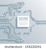 3d circuit board background... | Shutterstock .eps vector #143220241