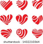icon red heart flat style ... | Shutterstock .eps vector #1432210364