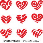 icon red heart flat style ... | Shutterstock .eps vector #1432210367