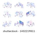 big data isometric illustration ... | Shutterstock .eps vector #1432219811