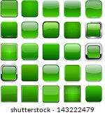 set of blank green square... | Shutterstock .eps vector #143222479