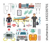 ambulance vector doctor... | Shutterstock .eps vector #1432230701