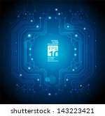 circuit board abstract blue... | Shutterstock .eps vector #143223421