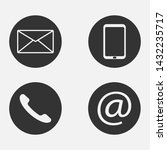 contact icons isolated on white ...   Shutterstock .eps vector #1432235717