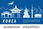korea famous landmark...   Shutterstock .eps vector #1432245221