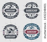 set of vintage barber shop... | Shutterstock .eps vector #1432248401