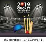 live cricket tournament poster... | Shutterstock .eps vector #1432249841