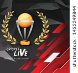 live cricket tournament poster... | Shutterstock .eps vector #1432249844