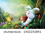 Stock photo kindergarten story hare and tortoise 1432252841