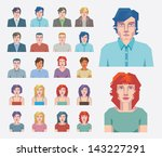 vector people icons. abstract... | Shutterstock .eps vector #143227291