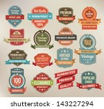 set of retro vector label... | Shutterstock .eps vector #143227294