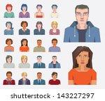 people icons. vector design... | Shutterstock .eps vector #143227297