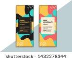 organic dark and milk chocolate ... | Shutterstock .eps vector #1432278344