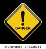 grungy warning sign | Shutterstock . vector #143228161