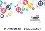 teamwork graphic design. gears... | Shutterstock .eps vector #1432286594