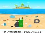 vector illustration of plastic... | Shutterstock .eps vector #1432291181