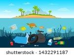 pollution plastic garbage in... | Shutterstock .eps vector #1432291187