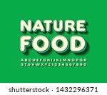 vector green sign nature food... | Shutterstock .eps vector #1432296371