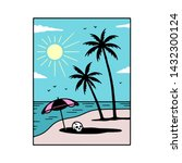 another day in paradise color... | Shutterstock .eps vector #1432300124