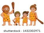 the caveman family is posing...   Shutterstock .eps vector #1432302971