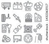 vector illustration car parts... | Shutterstock .eps vector #1432363517