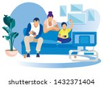 game party at home family fun....   Shutterstock .eps vector #1432371404