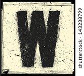 grunge letter | Shutterstock .eps vector #143238799