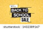back to school sale poster or... | Shutterstock .eps vector #1432389167