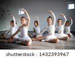 group of fit happy children... | Shutterstock . vector #1432393967