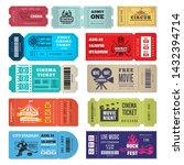 tickets template. events... | Shutterstock .eps vector #1432394714