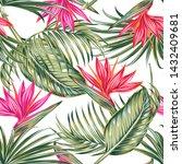floral vector seamless pattern... | Shutterstock .eps vector #1432409681