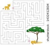 maze game for children. help... | Shutterstock .eps vector #1432412834