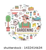 circular composition with... | Shutterstock . vector #1432414634