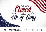 independence day  we will be... | Shutterstock .eps vector #1432417181