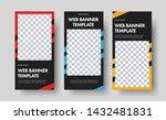 design of vertical black web... | Shutterstock .eps vector #1432481831