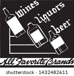 wines liquors beer 4   retro ad ... | Shutterstock .eps vector #1432482611