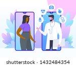 online doctor concept. patient...